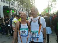 Enzo DI LASCIO e Nicola MANFREDELLI alla maratona di Parigi del 6/4/2014JPG